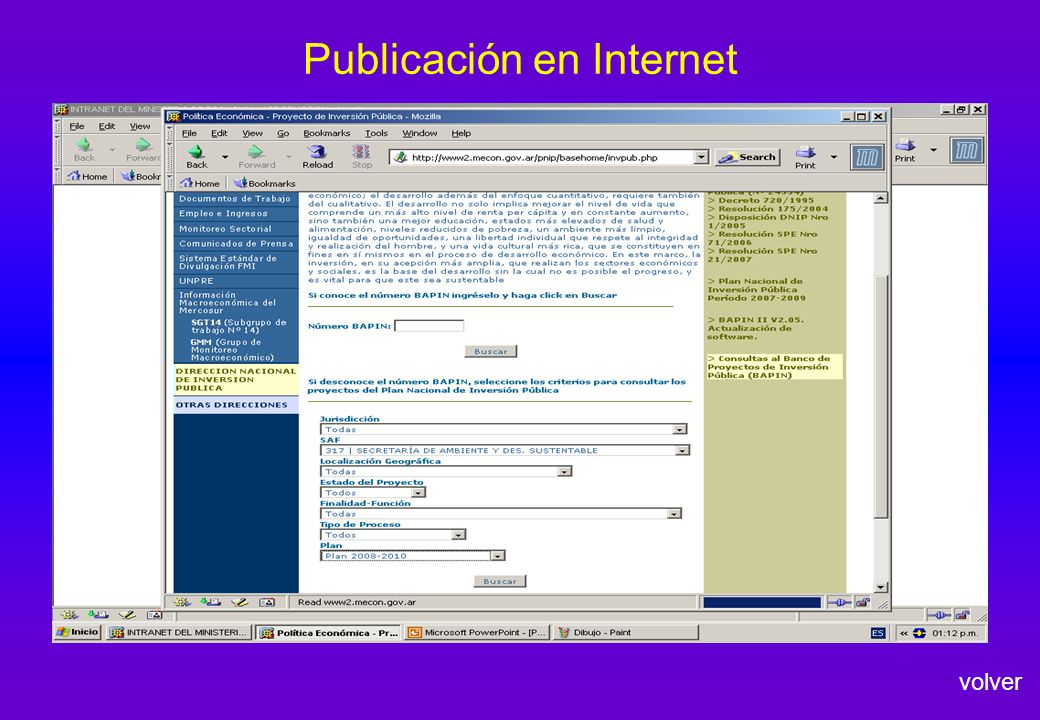 Publicación en Internet