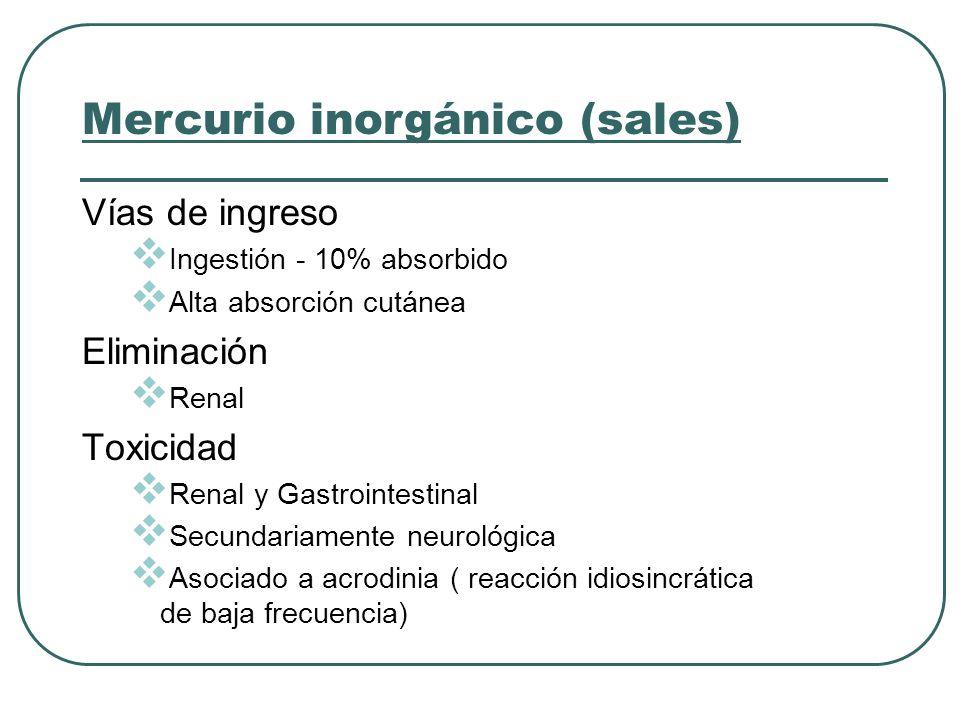 Mercurio inorgánico (sales)