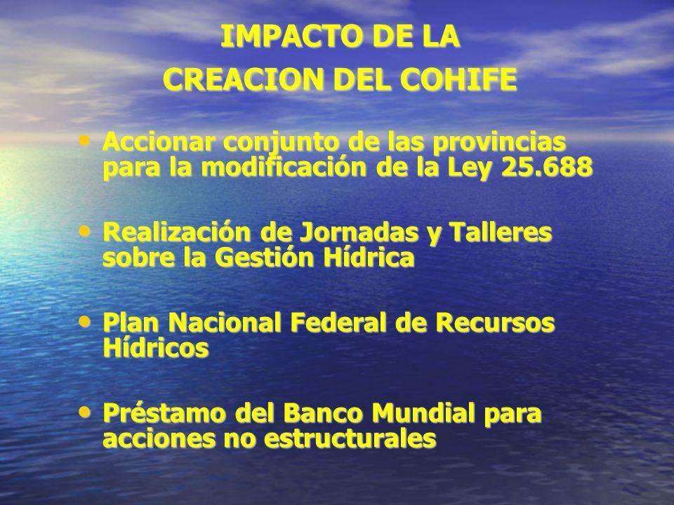 IMPACTO DE LA CREACION DEL COHIFE