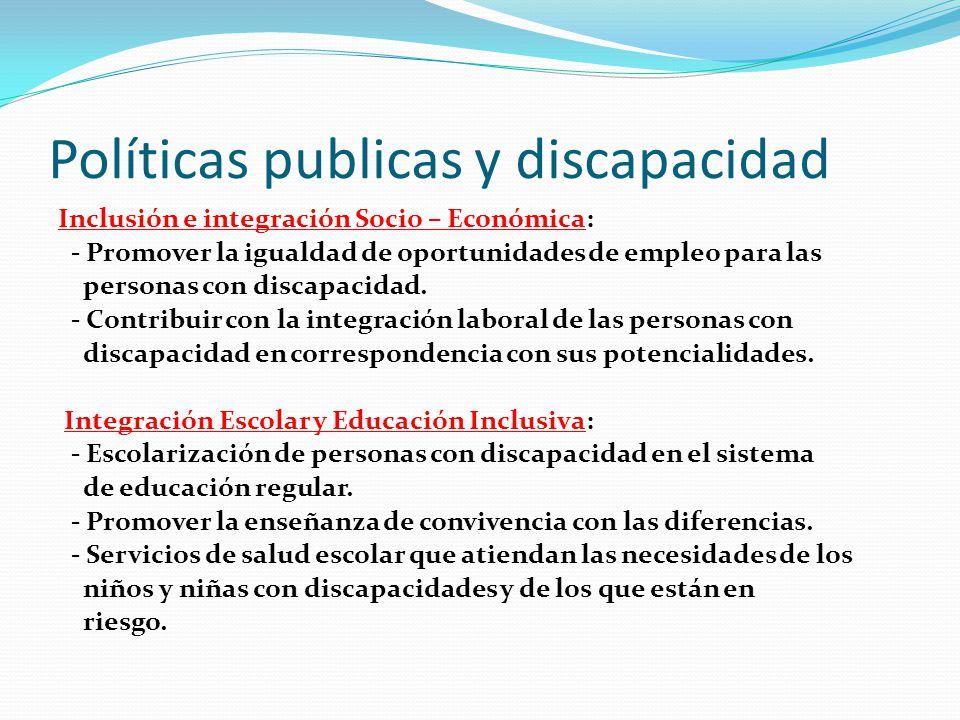 Políticas publicas y discapacidad