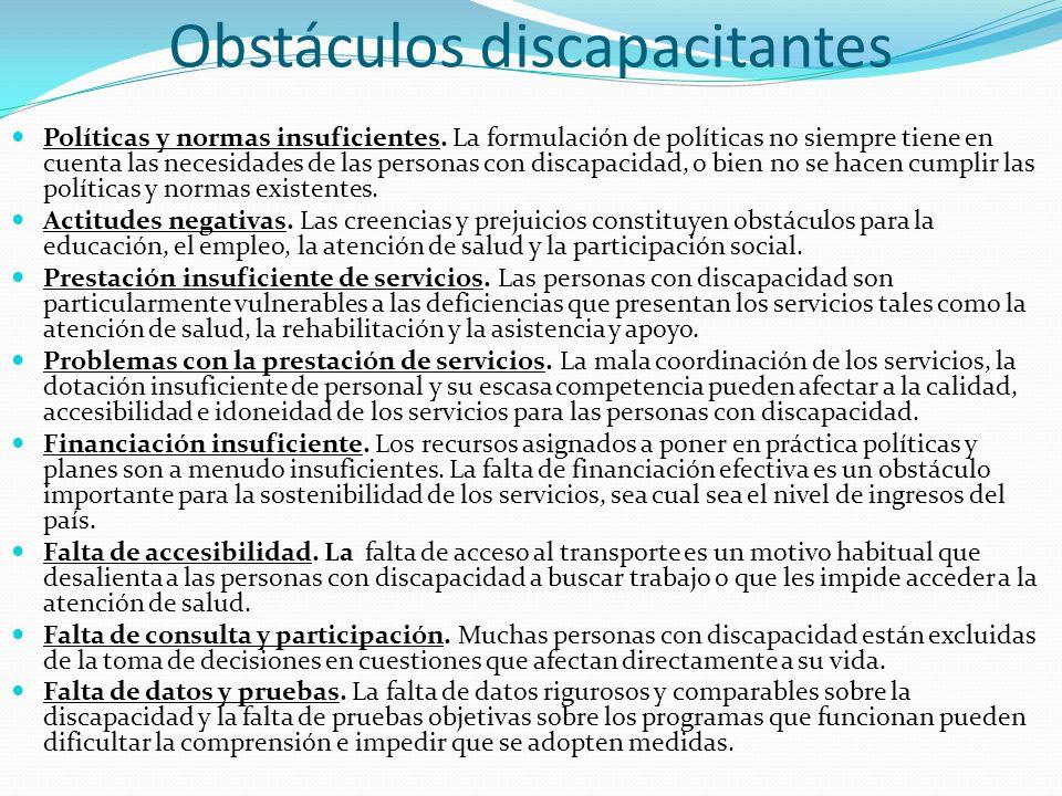 Obstáculos discapacitantes