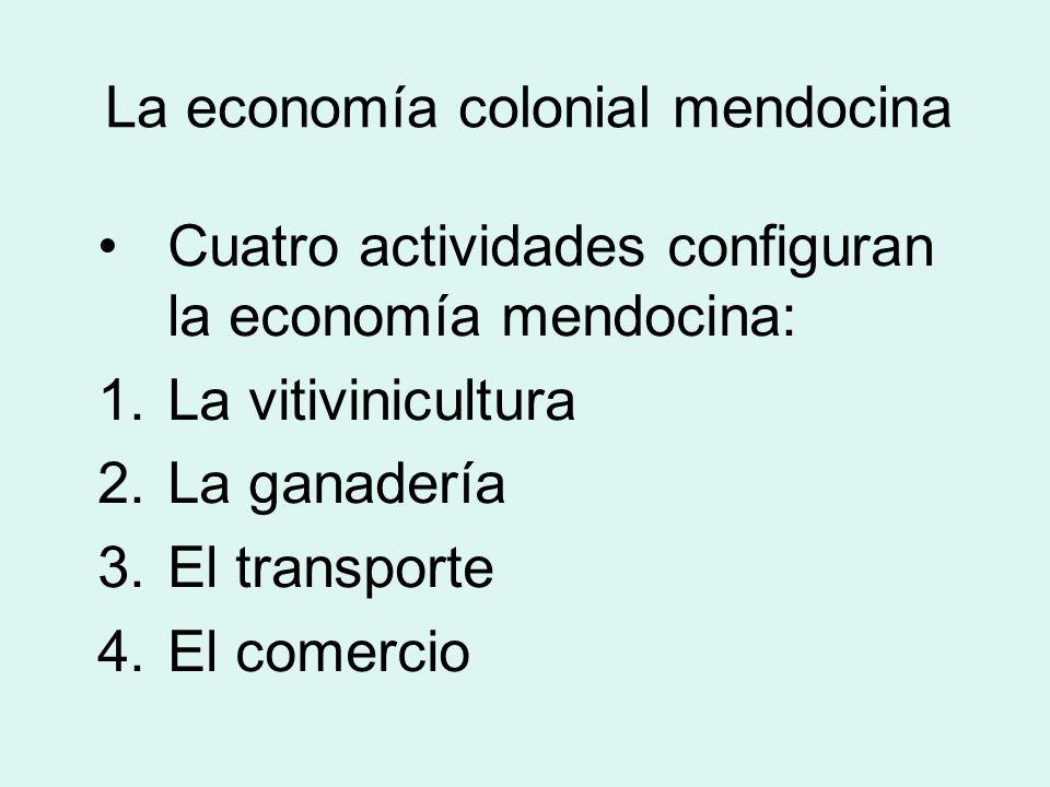 La economía colonial mendocina