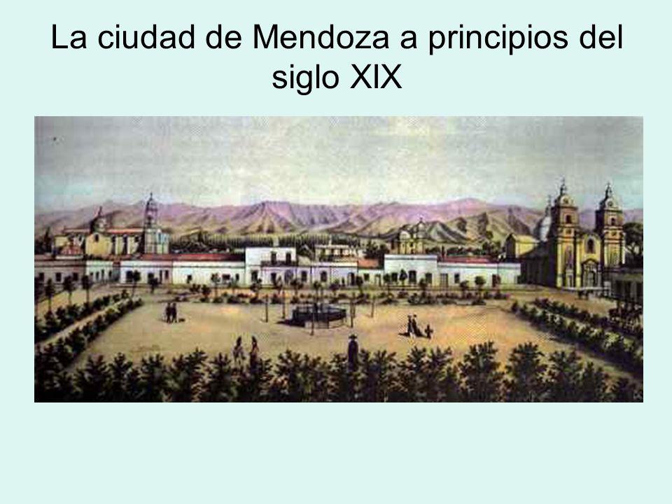 La ciudad de Mendoza a principios del siglo XIX