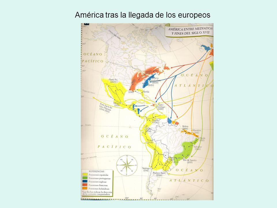América tras la llegada de los europeos