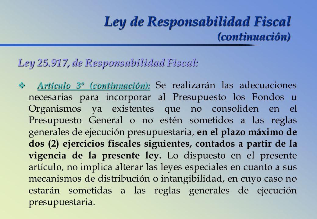 Ley de Responsabilidad Fiscal (continuación)