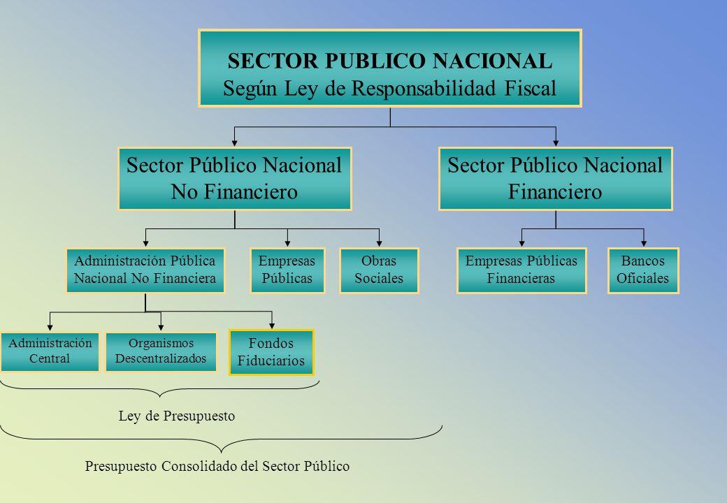 SECTOR PUBLICO NACIONAL Según Ley de Responsabilidad Fiscal