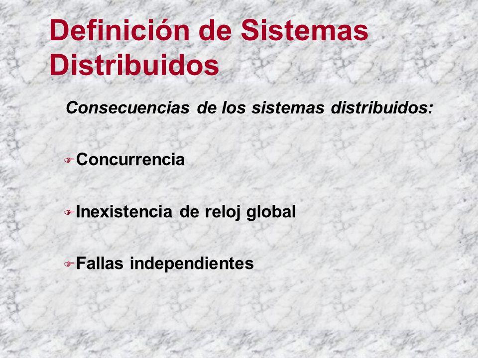 Definición de Sistemas Distribuidos