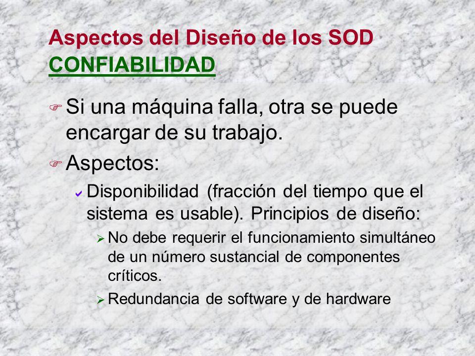 Aspectos del Diseño de los SOD CONFIABILIDAD