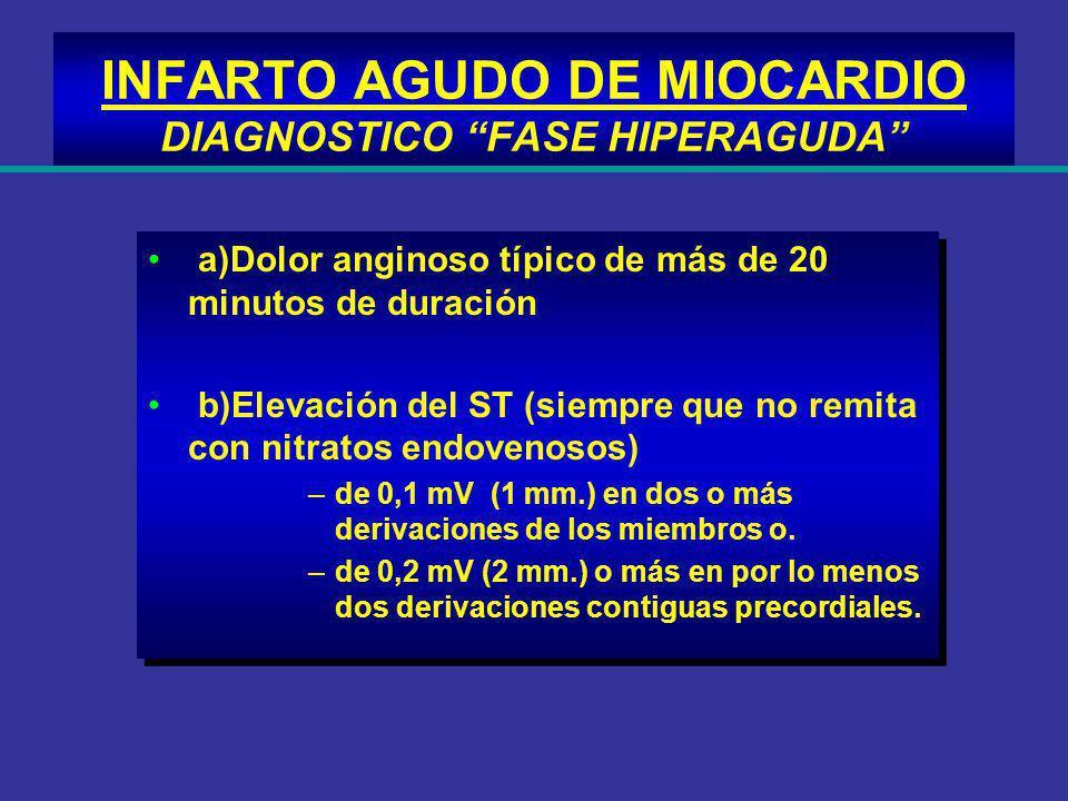 INFARTO AGUDO DE MIOCARDIO DIAGNOSTICO FASE HIPERAGUDA
