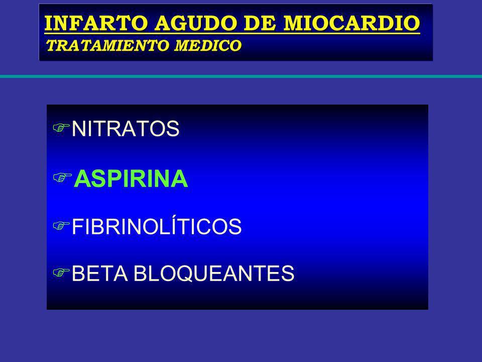 ASPIRINA INFARTO AGUDO DE MIOCARDIO NITRATOS FIBRINOLÍTICOS