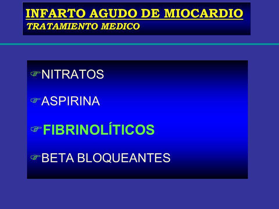 FIBRINOLÍTICOS INFARTO AGUDO DE MIOCARDIO NITRATOS ASPIRINA