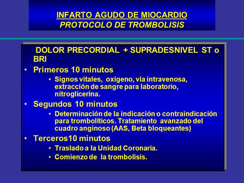 INFARTO AGUDO DE MIOCARDIO PROTOCOLO DE TROMBOLISIS