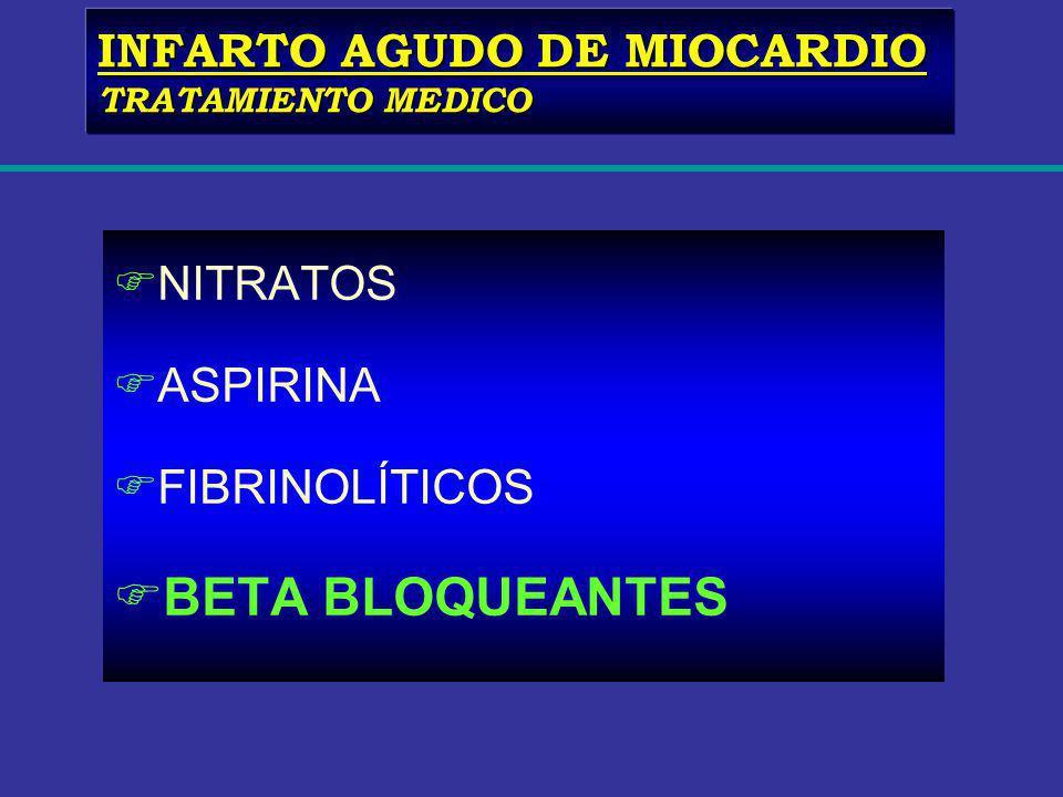BETA BLOQUEANTES INFARTO AGUDO DE MIOCARDIO NITRATOS ASPIRINA