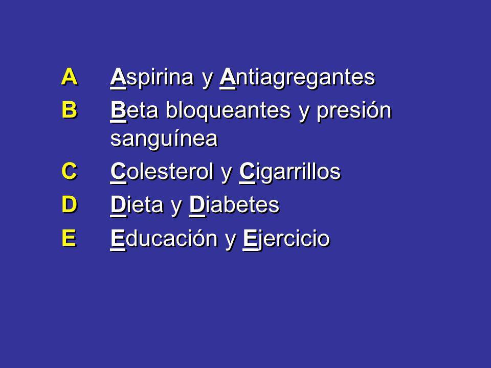 A Aspirina y Antiagregantes