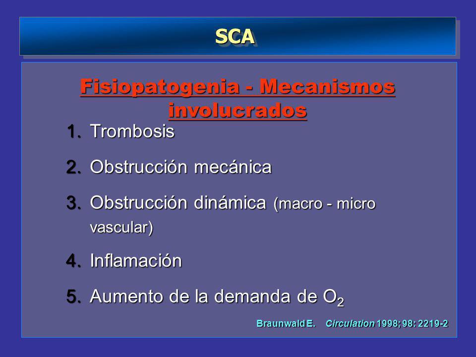 Fisiopatogenia - Mecanismos involucrados