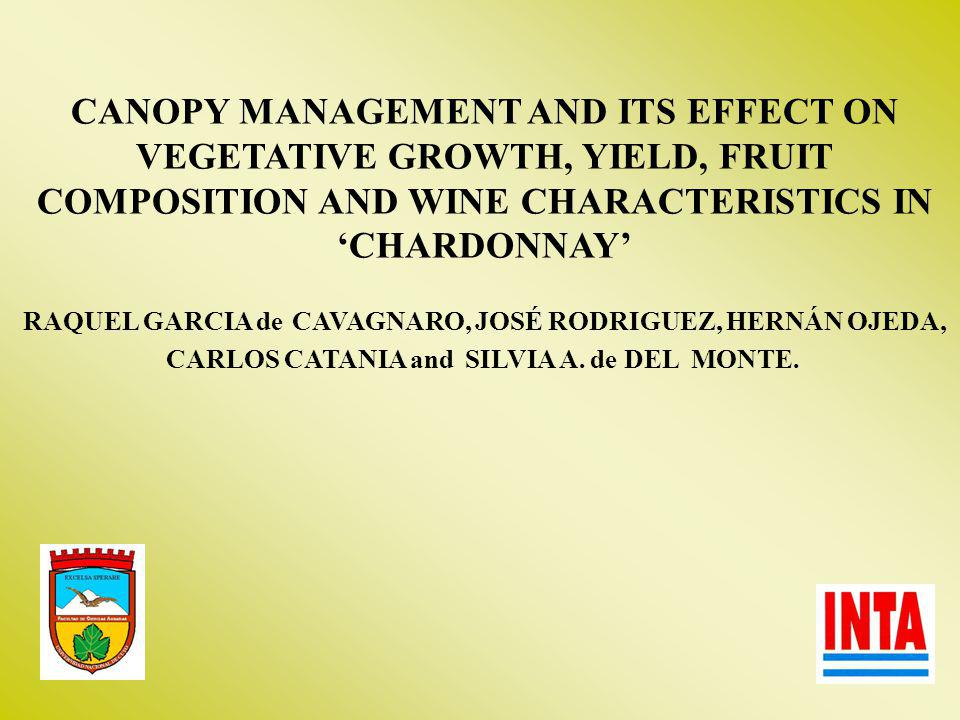 CANOPY MANAGEMENT AND ITS EFFECT ON VEGETATIVE GROWTH, YIELD, FRUIT COMPOSITION AND WINE CHARACTERISTICS IN