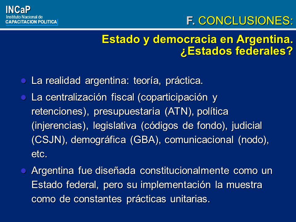Estado y democracia en Argentina. ¿Estados federales