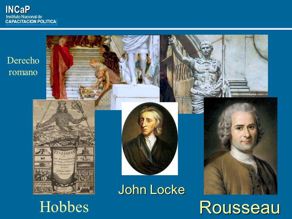 Rousseau Hobbes John Locke INCaP Derecho romano Instituto Nacional de