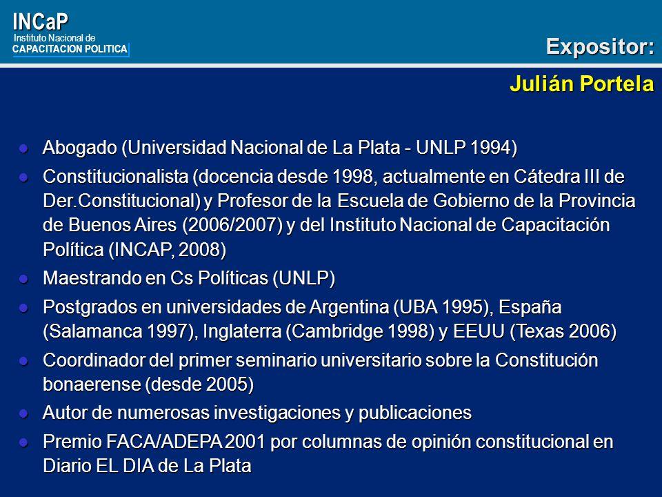 INCaP Expositor: Julián Portela