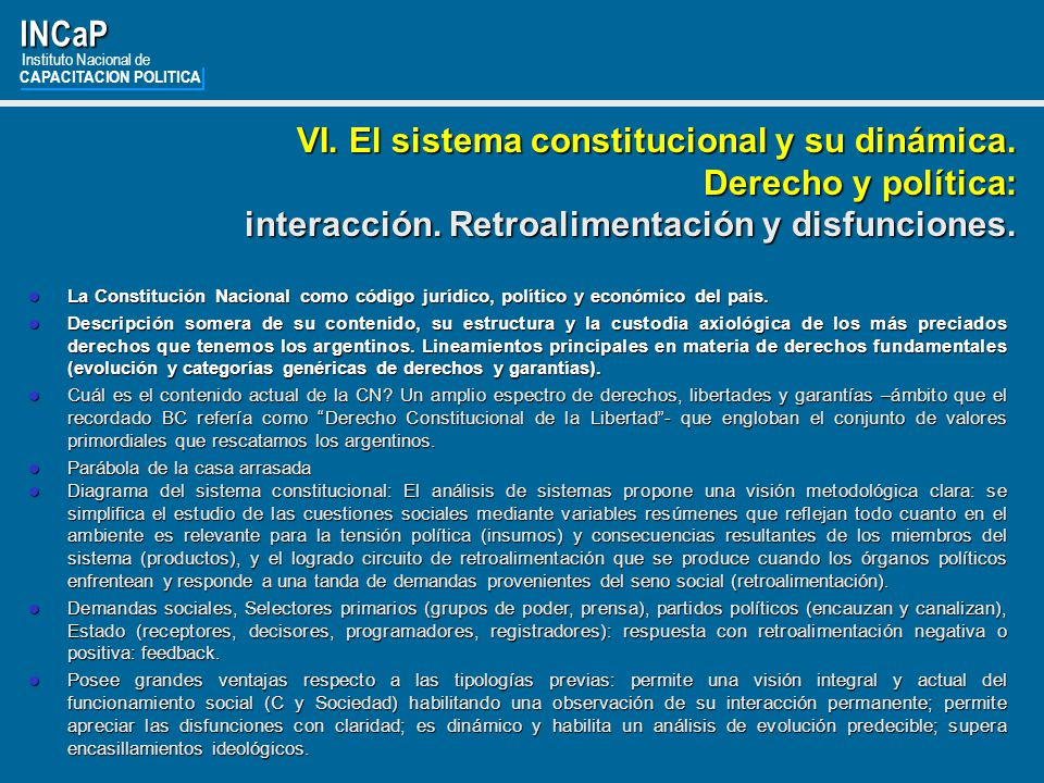 INCaP Instituto Nacional de. CAPACITACION POLITICA.