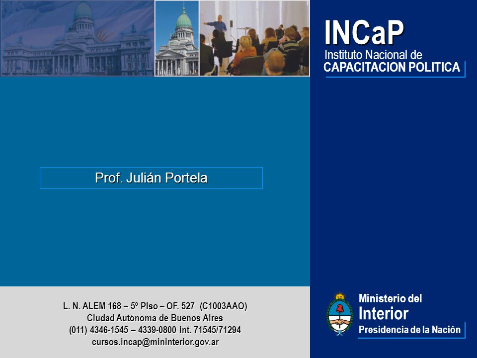 INCaP Interior Instituto Nacional de CAPACITACION POLITICA