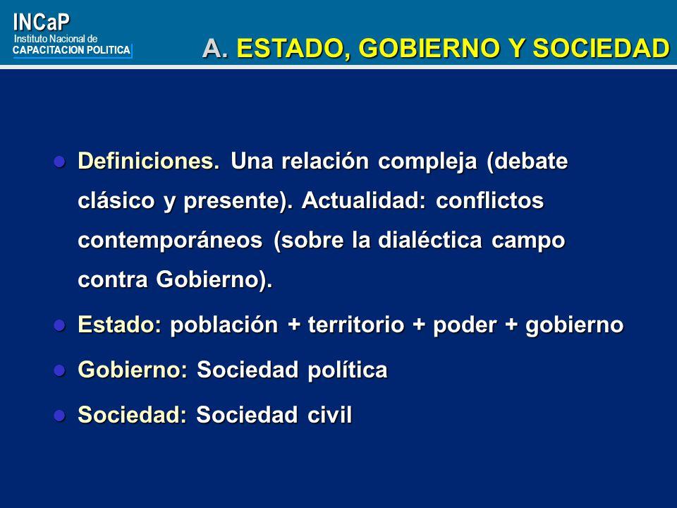 A. ESTADO, GOBIERNO Y SOCIEDAD
