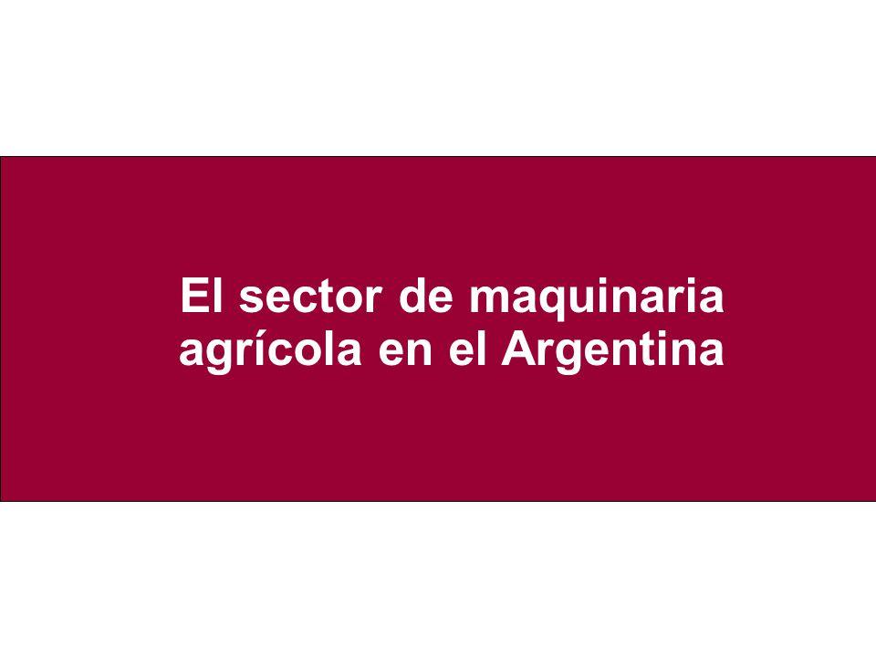 El sector de maquinaria agrícola en el Argentina