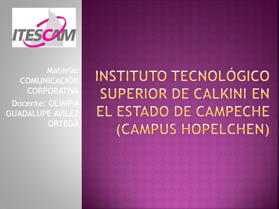 INSTITUTO TECNOLÓGICO SUPERIOR DE CALKINI EN EL ESTADO DE CAMPECHE (CAMPUS HOPELCHEN)
