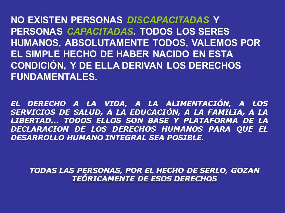 NO EXISTEN PERSONAS DISCAPACITADAS Y PERSONAS CAPACITADAS