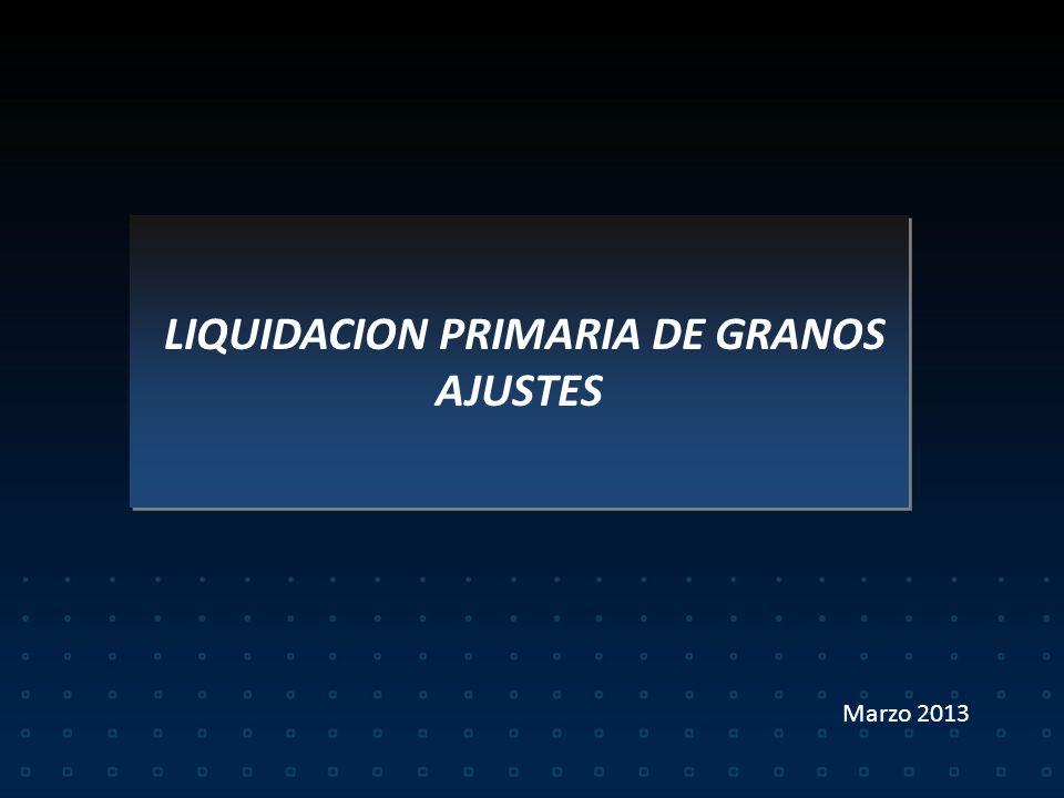 LIQUIDACION PRIMARIA DE GRANOS