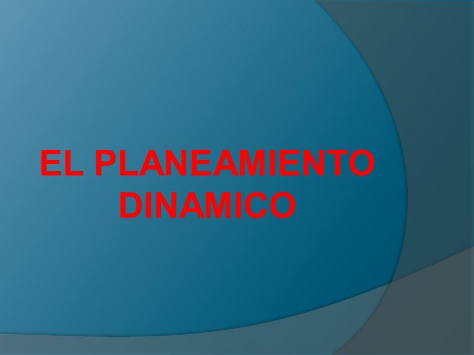 EL PLANEAMIENTO DINAMICO
