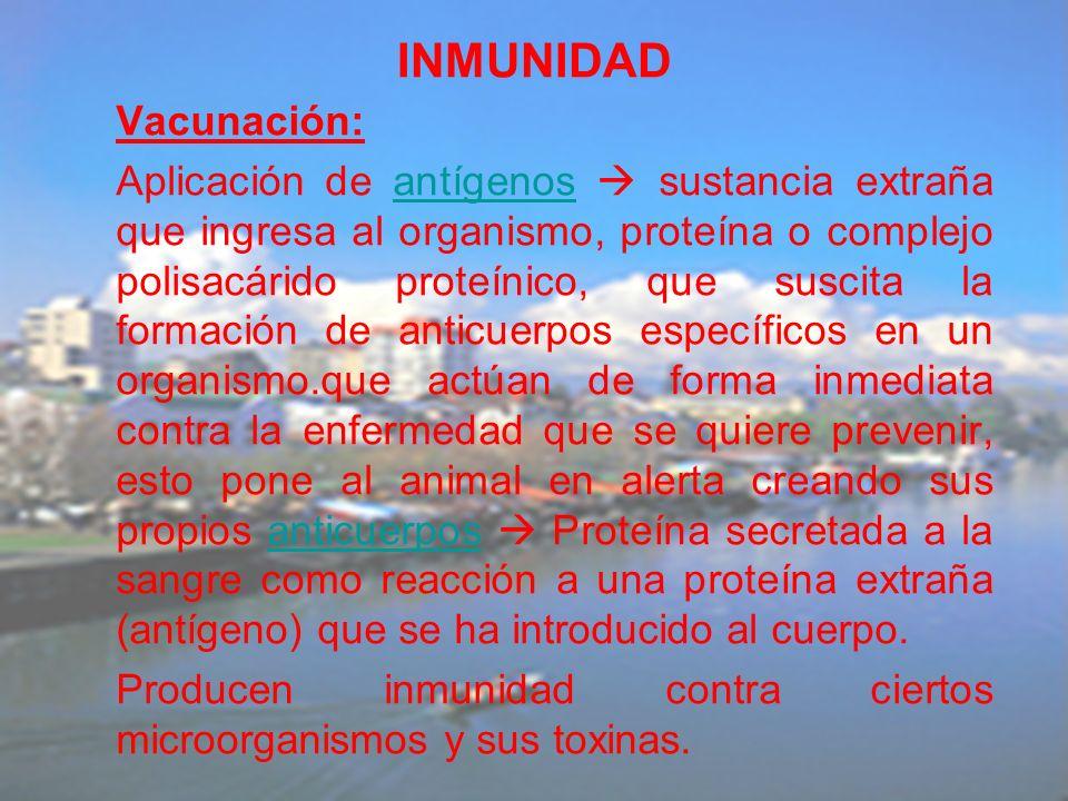 INMUNIDAD Vacunación: