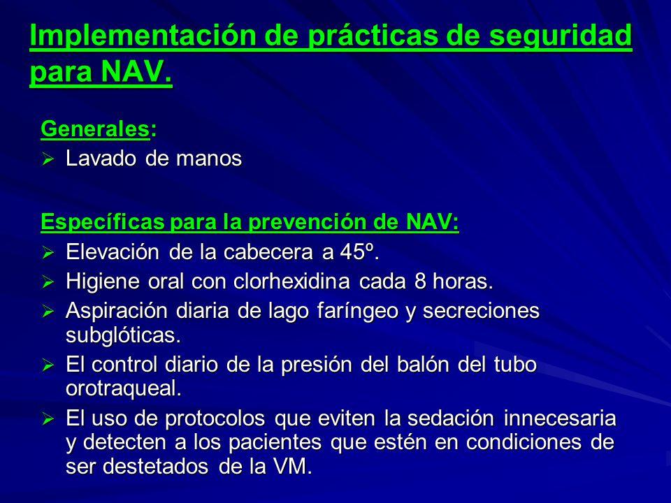 Implementación de prácticas de seguridad para NAV.