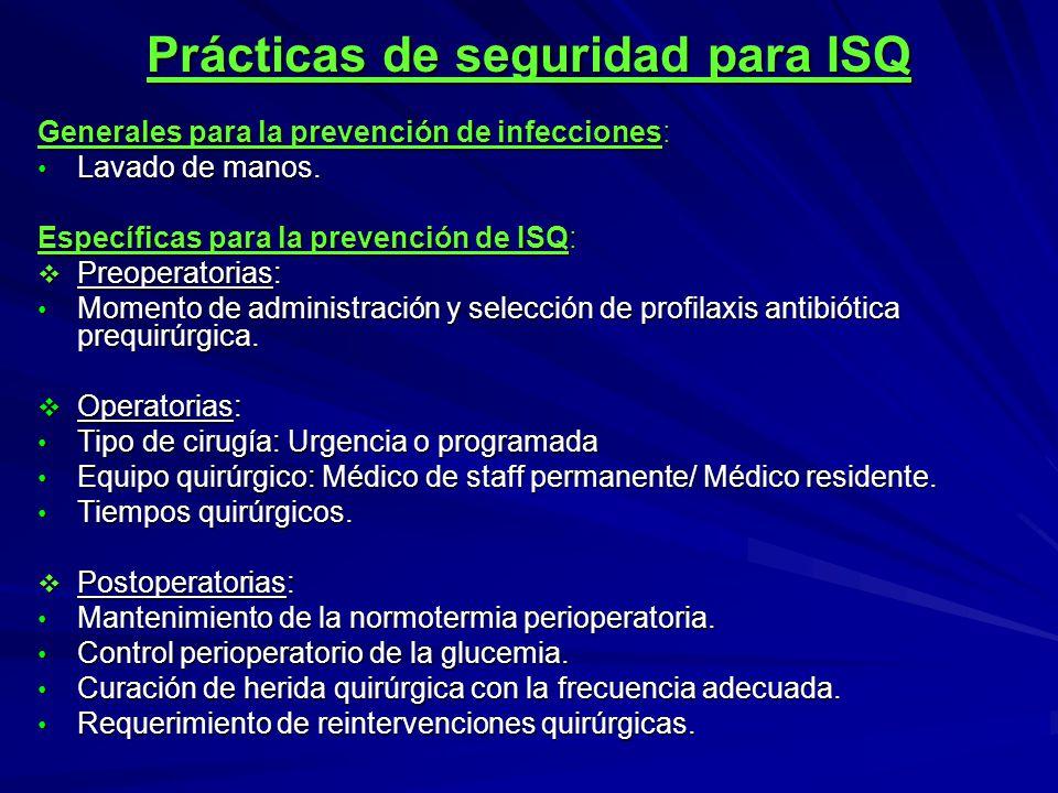Prácticas de seguridad para ISQ