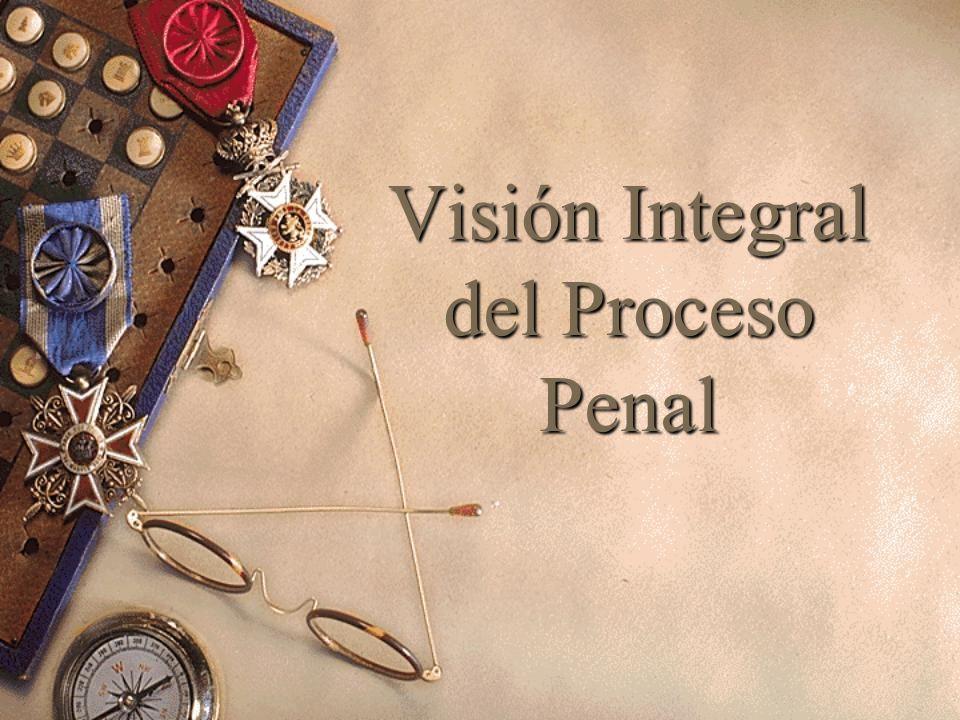 Visión Integral del Proceso Penal