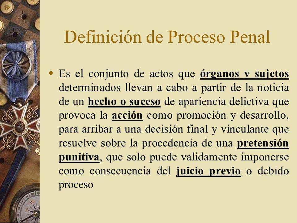 Definición de Proceso Penal