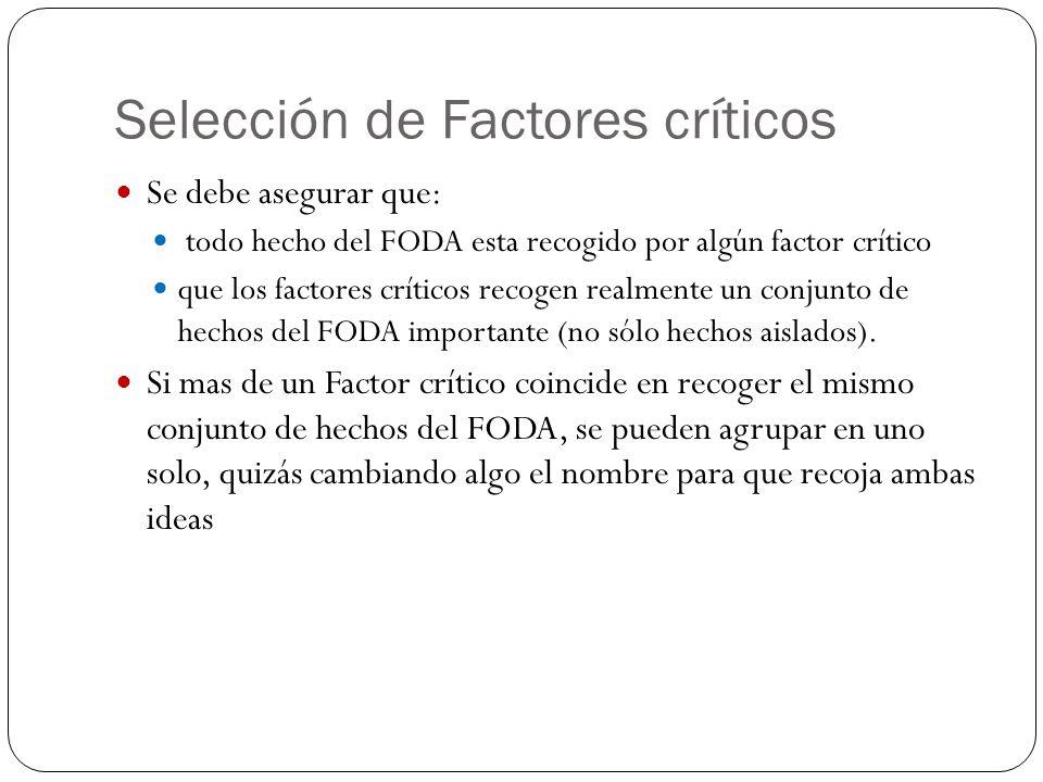 Selección de Factores críticos