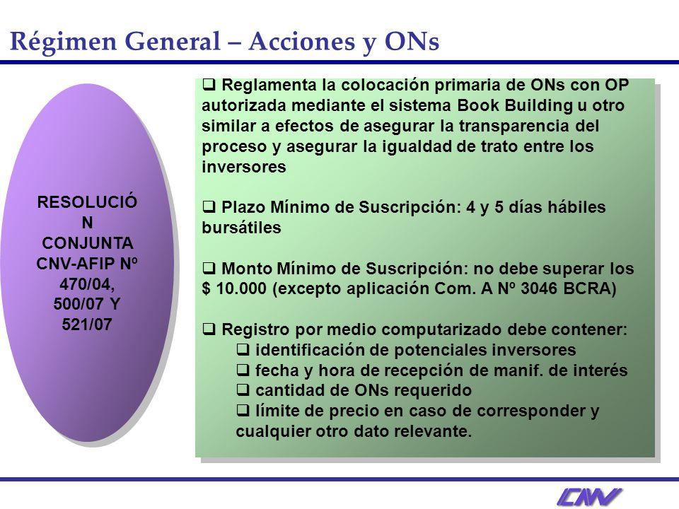 RESOLUCIÓN CONJUNTA CNV-AFIP Nº 470/04, 500/07 Y 521/07