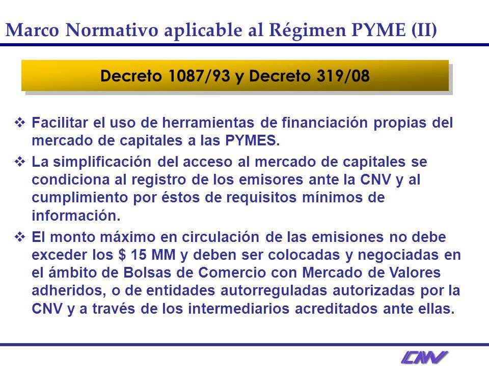 Marco Normativo aplicable al Régimen PYME (II)