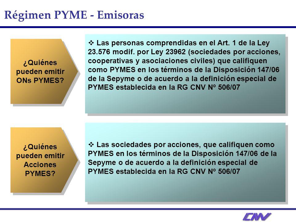Régimen PYME - Emisoras