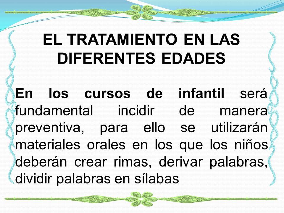 EL TRATAMIENTO EN LAS DIFERENTES EDADES