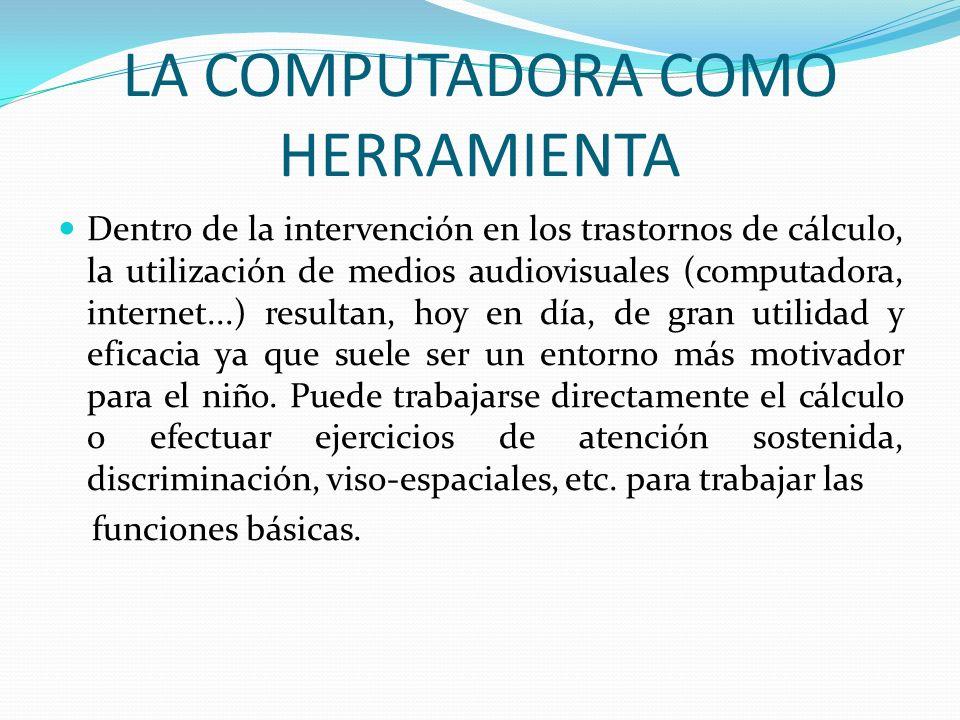 LA COMPUTADORA COMO HERRAMIENTA