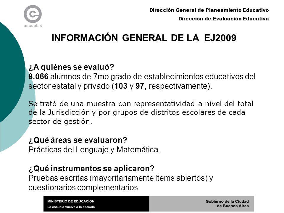 INFORMACIÓN GENERAL DE LA EJ2009