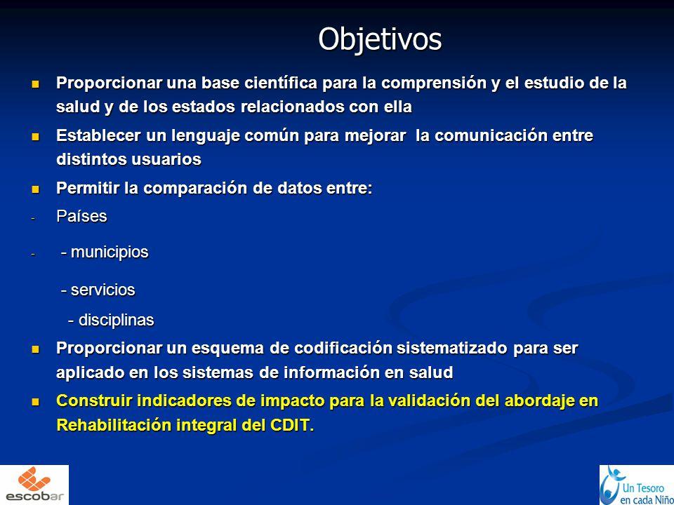 Objetivos Proporcionar una base científica para la comprensión y el estudio de la salud y de los estados relacionados con ella.