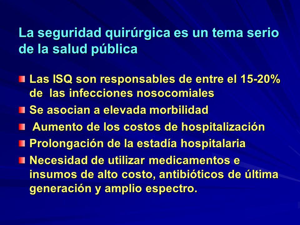 La seguridad quirúrgica es un tema serio de la salud pública
