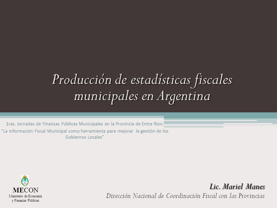 Producción de estadísticas fiscales municipales en Argentina