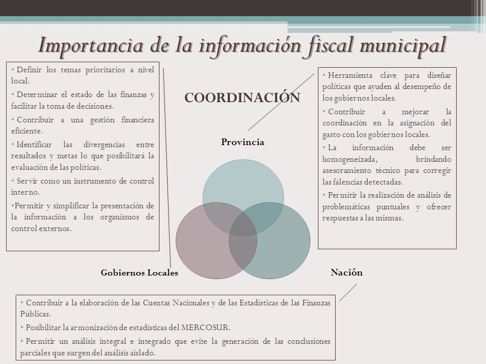 Importancia de la información fiscal municipal