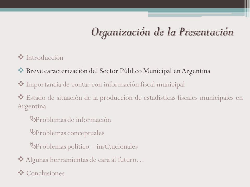Organización de la Presentación