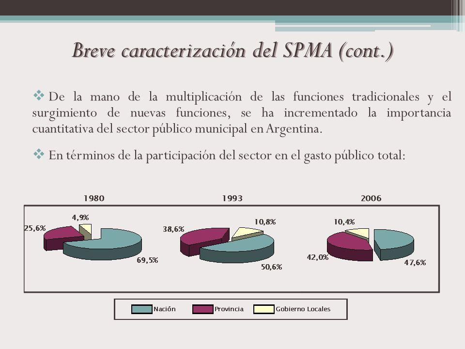 Breve caracterización del SPMA (cont.)
