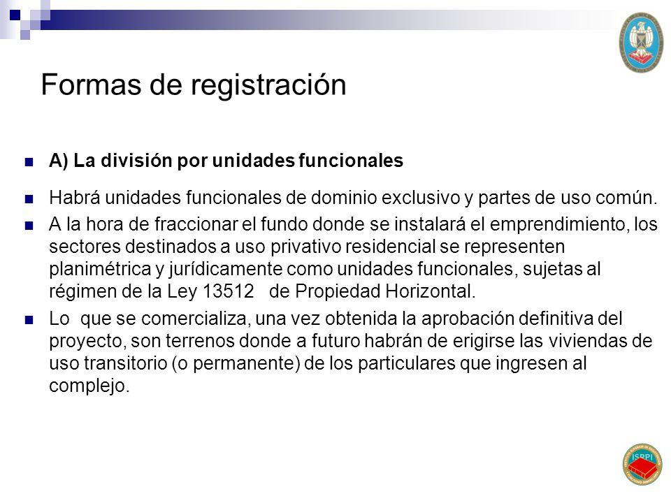 Formas de registración